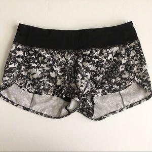 Lululemon Run Speed Shorts Mash Up Black White 6